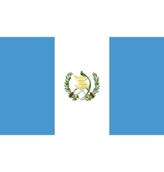 Flag of guatemala correct size and colors vector