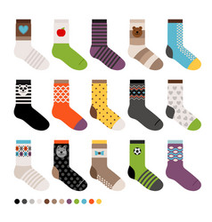 childrens socks icon set vector image