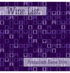 Wine list menu vector image