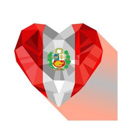 Logo symbol of love peru vector