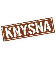 Knysna brown square stamp vector