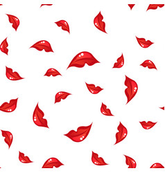 Seamless pattern with lips vector