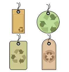 Recycled tags vector image