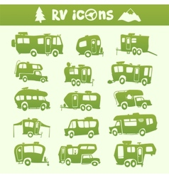 Recreational vehicle set vector
