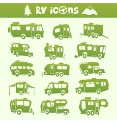 Recreational Vehicle set vector image