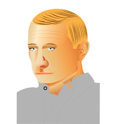 Man profile portrait vector