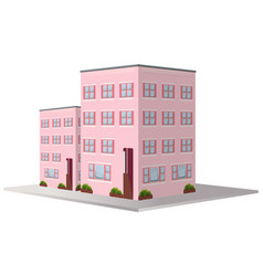 3d design for two apartment buildings vector