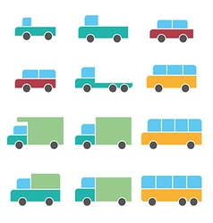 Vehicle car icons vector