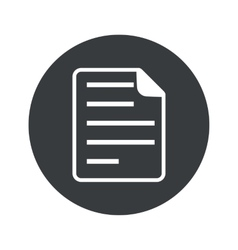 Monochrome round document icon vector