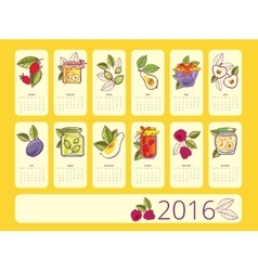 Simple european 2016 year calendar vector