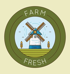Farm fresh product - emblem logotype pack vector