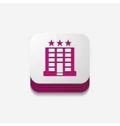 Square button hotel vector