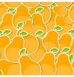 Seamless pattern background from pear vector
