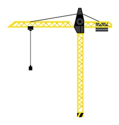 Construction crane tower vector