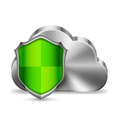 Cloud Technology Security vector image
