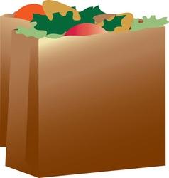 Paper grocery sacks vector