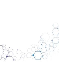 Abstract molecular connection vector