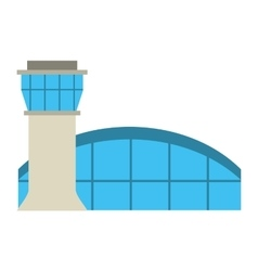 Airport building tower control vector