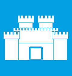 ancient fortress icon white vector image