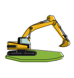 backhoe heavy machinery construction icon image vector image vector image