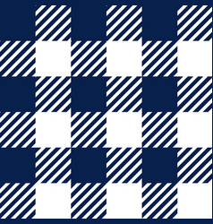 Blue and white gingham tablecloth seamless pattern vector