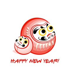 Daruma New Year card vector image