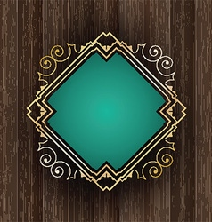 decorative frame on wood 2604 vector image