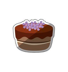 delicious birthday cake vector image