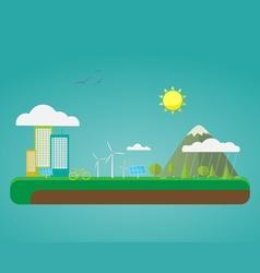 Eco city vector