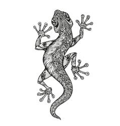 Ethnic ornamented salamander vintage graphic vector