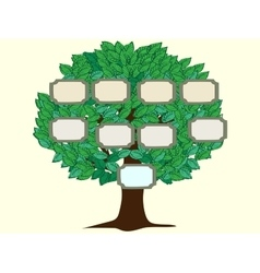 Family tree one person background vector