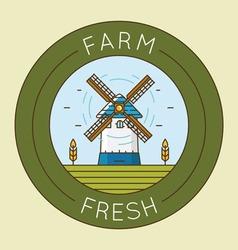 Farm fresh product - emblem logotype pack vector image vector image