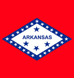 Flag of arkansas vector