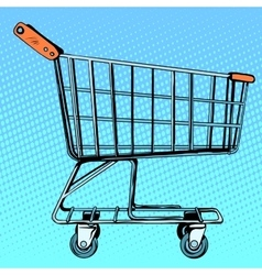 Grocery cart store vector image