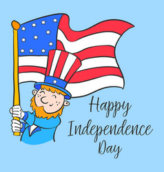 Happy independence day cartoon style vector