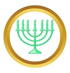 Menorah icon vector
