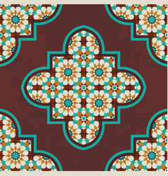 moroccan mosaic tile vector image vector image
