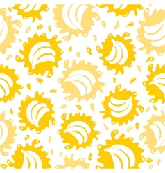 Organic food background bananas seamless pattern vector image vector image