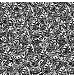 Ornamental seamless pattern black and white vector