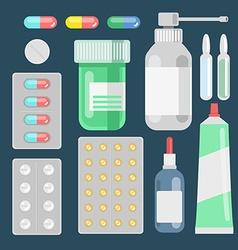 Pills against diseases set Pills in your medicine vector image