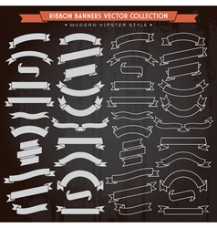Ribbon Banners Hipster Style vector image
