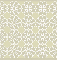 Seamless abstract floral pattern vector