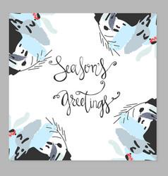Season s greetings vector