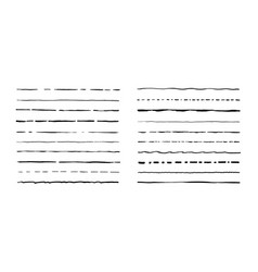 set of artistic pen brushes hand drawn grunge vector image