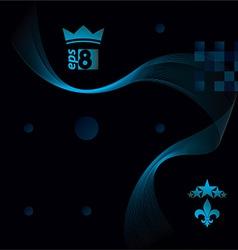 Slender 3d textile motif background curved stripy vector image vector image