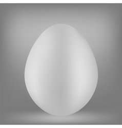 White Egg vector image vector image