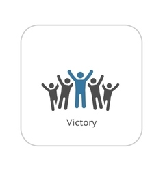 Victory icon flat design vector