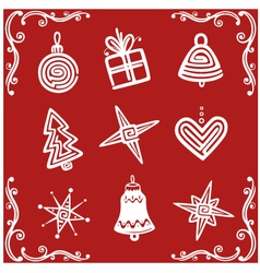 Christmas xmas design elements vector