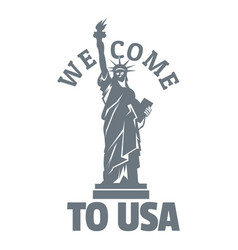 Freedom statue logo simple style vector