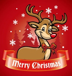 rudolf the deer vector image
